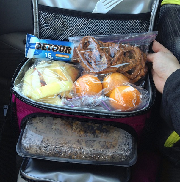 Isobag mini packed with healthy food for work