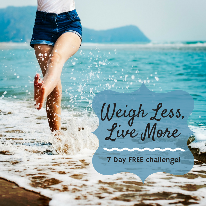 weigh less live more free health coaching challenge