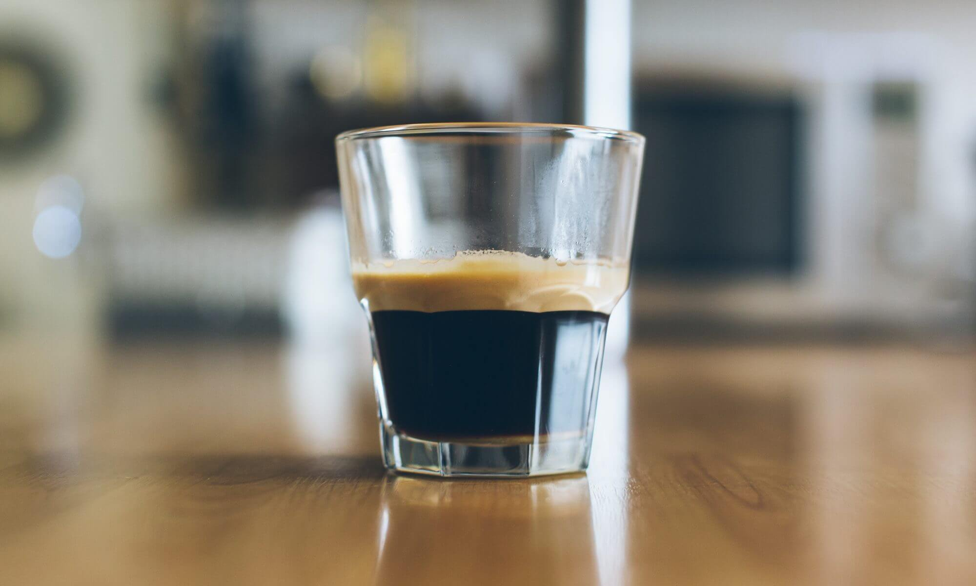 a shot of espresso