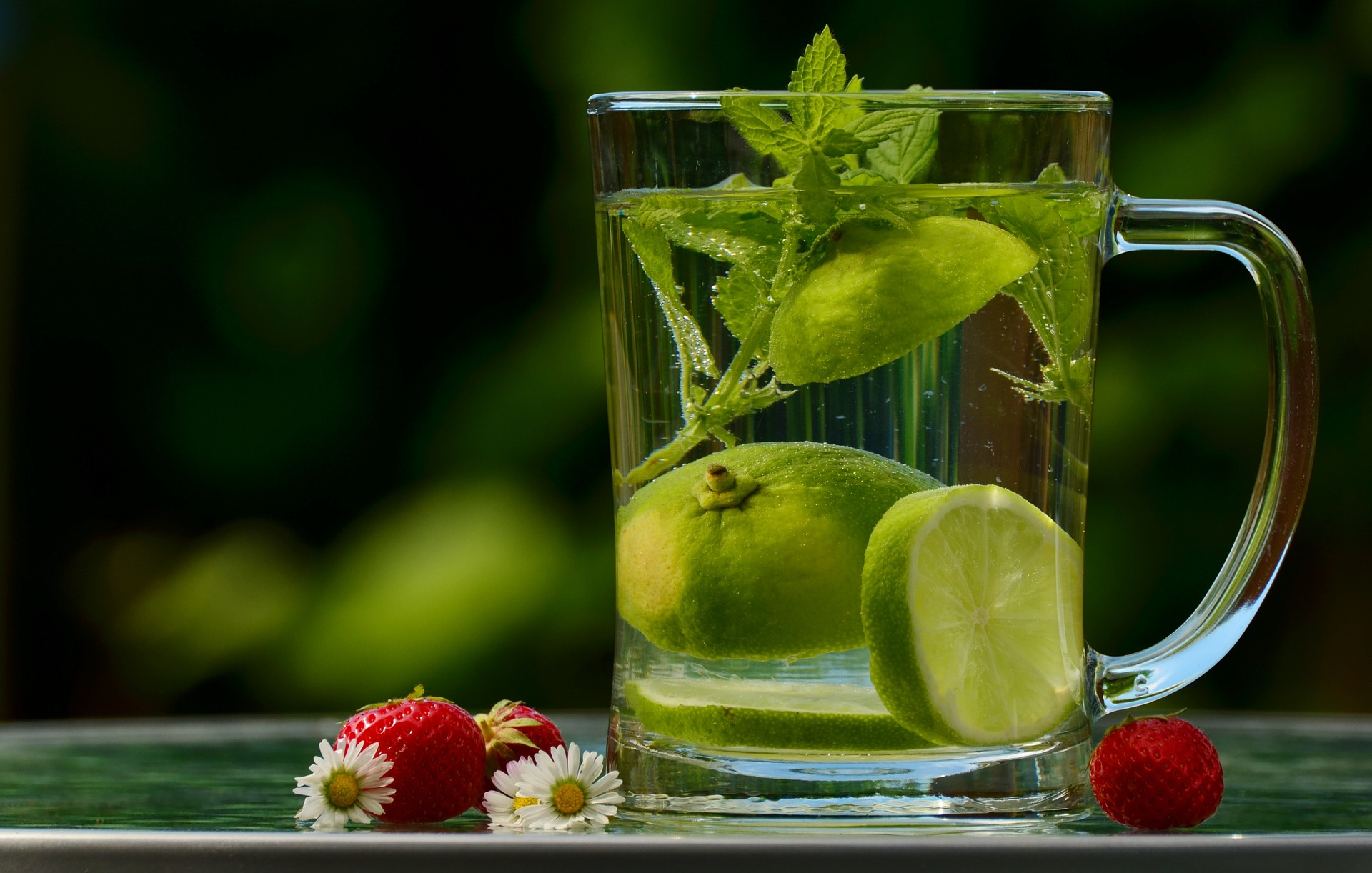 lime and mint infused water