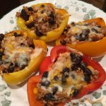 Low Carb, Ground Turkey Stuffed Peppers