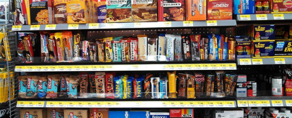 protein bar aisle