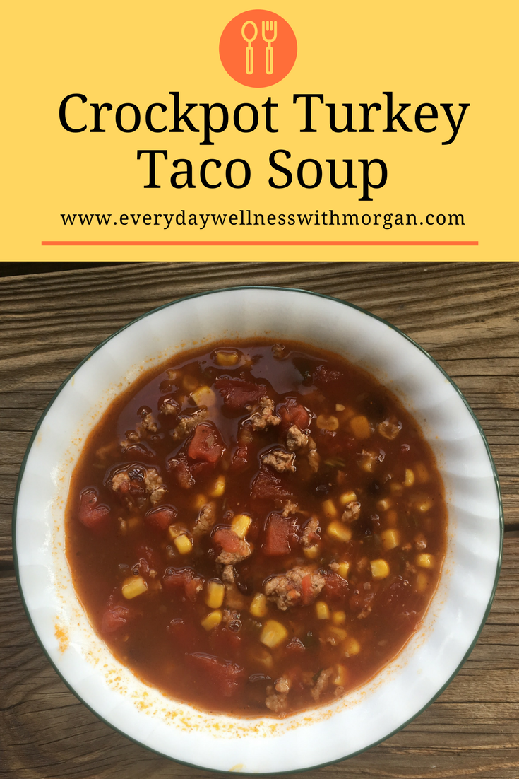 crockpot turkey taco soup