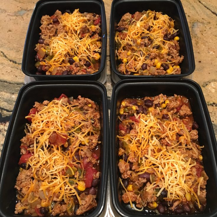 Crockpot Ground Turkey Enchilada Casserole