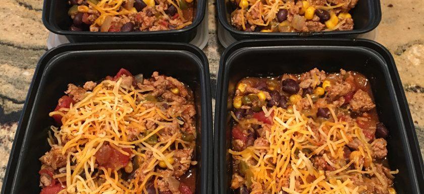 crockpot ground turkey enchilada casserole