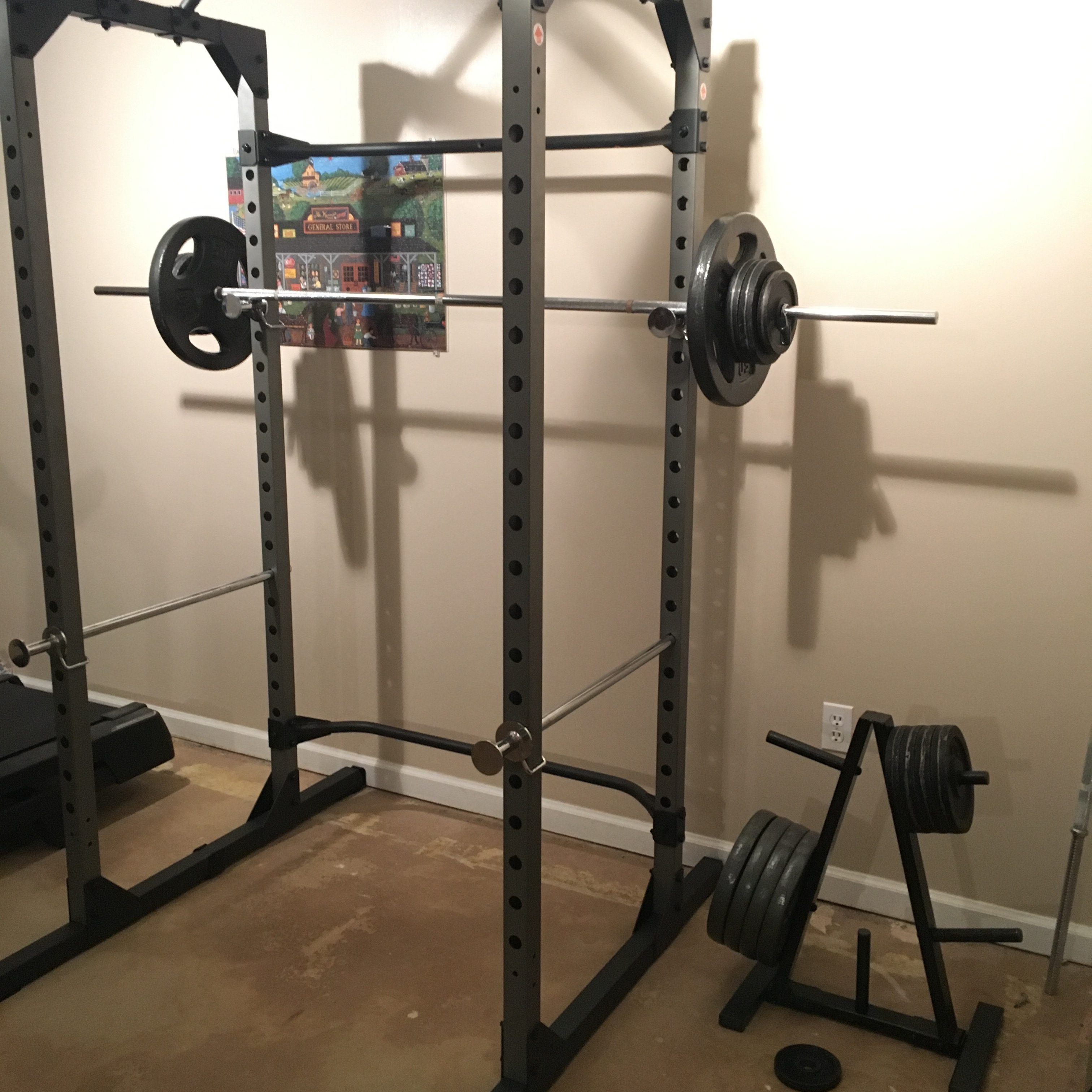 home deluxe with power resource body cage folding pro marcy rack a bench gym is what itm total system