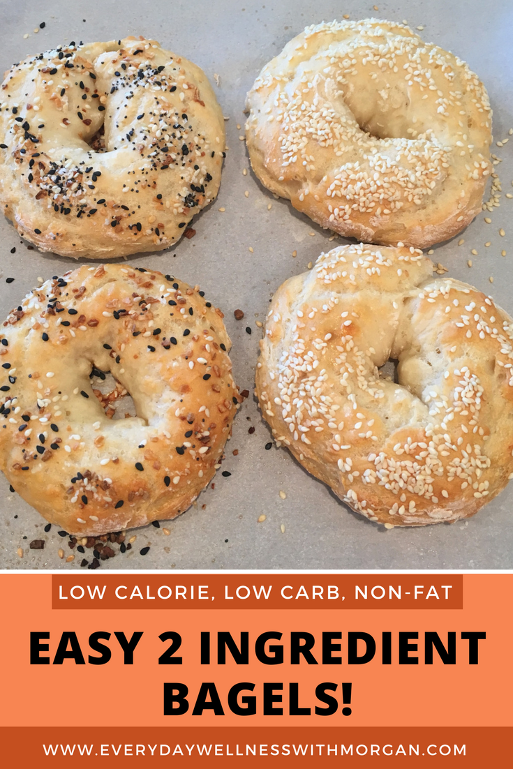 easy two ingredient bagel