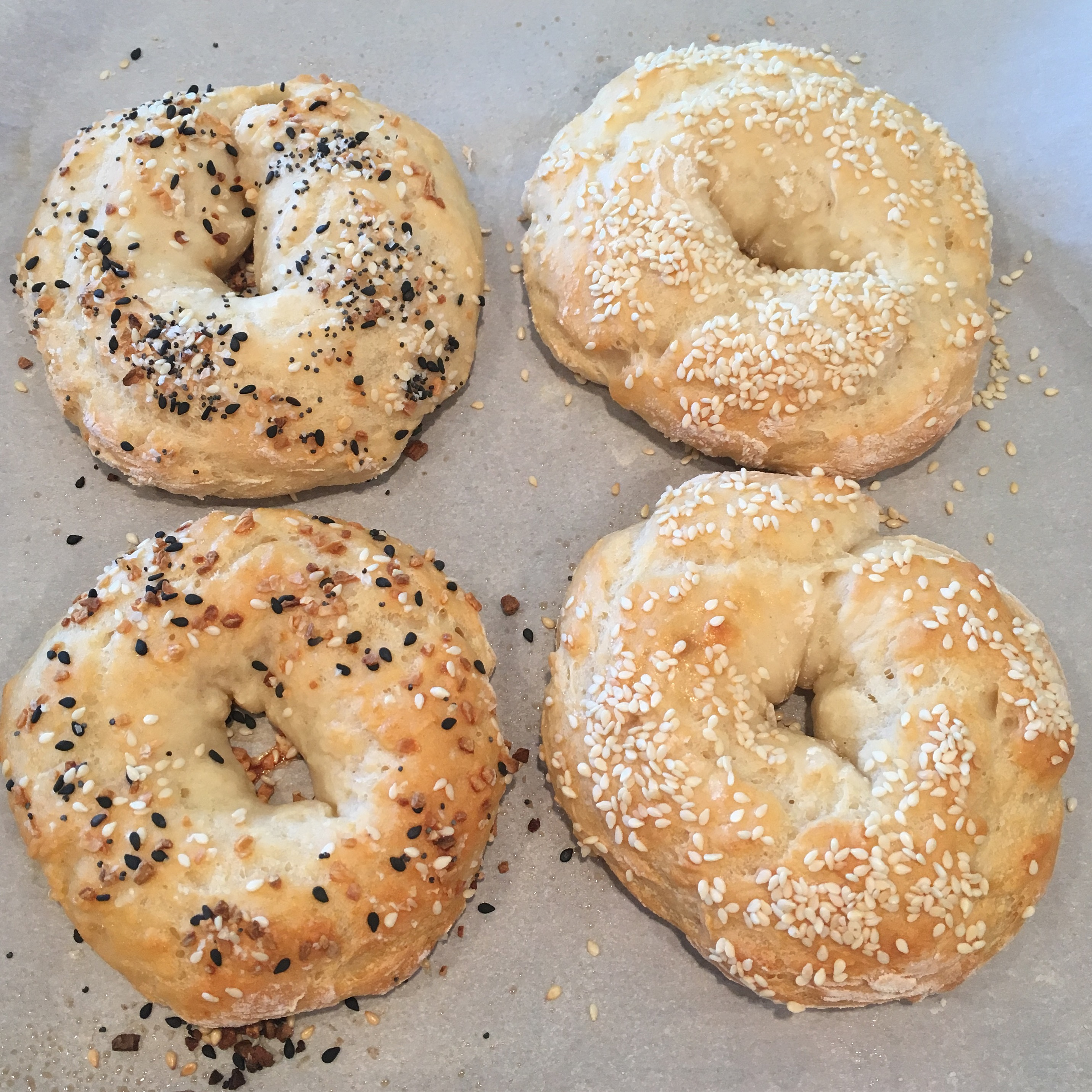 easy 2 ingredient bagels
