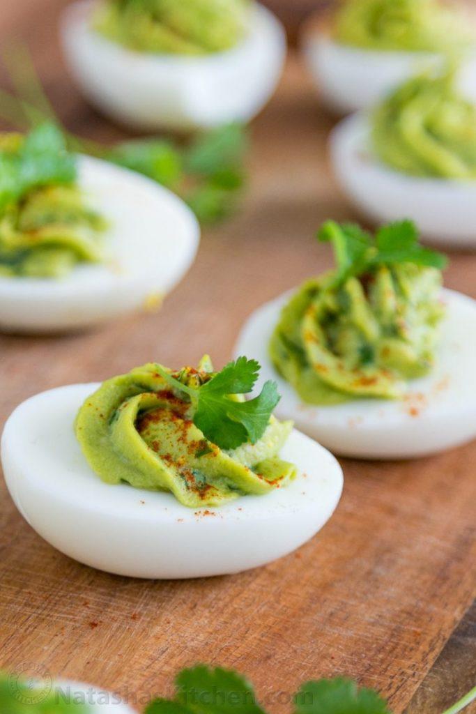 guacamole stuffed egg