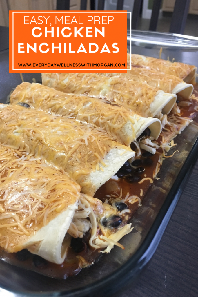 easy meal prep chicken enchiladas (budget friendly!)