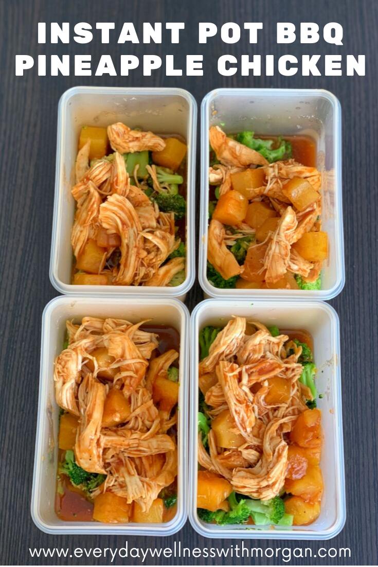 Instant Pot BBQ Pineapple Chicken