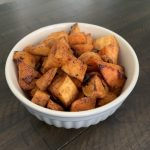 Skinny Brown Sugar Glazed Sweet Potatoes