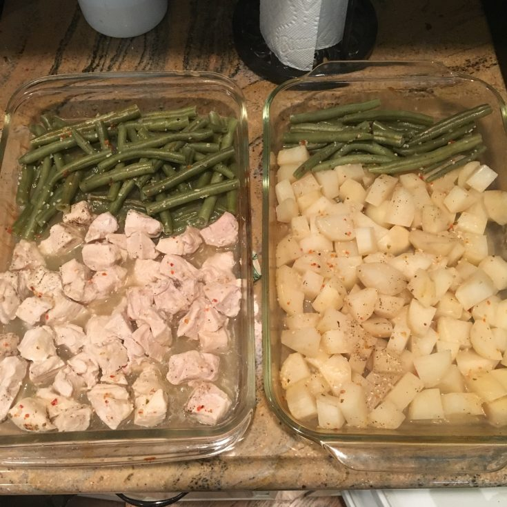 Italian Chicken, Green Beans, and Potatoes - One Pan Meal